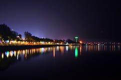 Esplanade, Kuantan, Malaysia. Long exposure of night shot at kuantan river. Esplanade is one of the most attractive place in Kuantan city, Malaysia Royalty Free Stock Photo