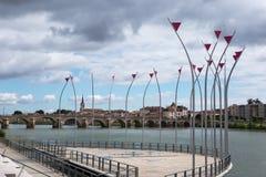 Esplanade Lamartine, Macon, Γαλλία Στοκ φωτογραφία με δικαίωμα ελεύθερης χρήσης