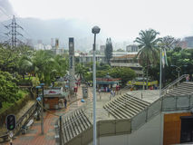Esplanade in Medellin Colombia Royalty Free Stock Photography