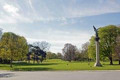 The esplanade of Montsouris Park (Paris France) Stock Photo