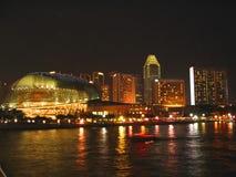 Esplanade na noite Fotografia de Stock Royalty Free