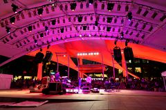 Esplanade outdoor stage Singapore Stock Images