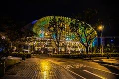 Esplanade pendant la nuit image libre de droits