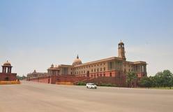 Esplanade Rajpath Τα κτήρια κυβέρνησης των Ινδιάνων 10 το 1986 2007 2011 όλοι ως σπίτι του Δελχί baha εγκαινίασα την ινδική γνωστ Στοκ Εικόνα