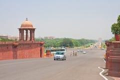 Esplanade Rajpath Τα κτήρια κυβέρνησης των Ινδιάνων 10 το 1986 2007 2011 όλοι ως σπίτι του Δελχί baha εγκαινίασα την ινδική γνωστ Στοκ Εικόνες