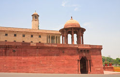 Esplanade Rajpath. The Indian government buildings. New Delhi Royalty Free Stock Photography