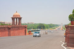 Esplanade Rajpath. The Indian government buildings. New Delhi Stock Images