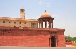 Esplanade Rajpath Les bâtiments de Gouvernement Indien LA NOUVELLE DELHI Photographie stock libre de droits