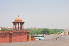 Esplanade Rajpath. New Delhi Royalty Free Stock Images