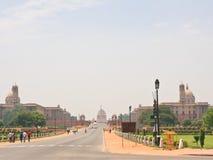 Esplanade Rajpath Wohnsitz des Präsidenten von Indien NOVEMBER 2007: Leute am Baha'i Ort der Verehrung, bekannt als Lotos Tempel  Stockfotografie