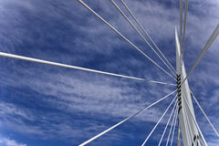 Esplanade Riel Bridge. Image featuring the Esplanade Riel bridge from Winnipeg, Manitoba Stock Image