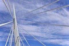 Esplanade Riel Bridge. Image featuring the Esplanade Riel bridge from Winnipeg, Manitoba Stock Photography