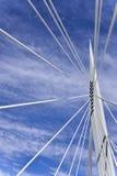 Esplanade Riel Bridge. Image featuring the Esplanade Riel bridge from Winnipeg, Manitoba Stock Photo