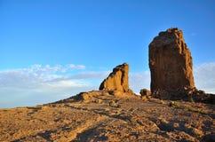 Esplanade of Roque Nublo, Gran canaria island. Natural landscape of Gran canaria Royalty Free Stock Photos