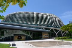 Dome of Esplanade, Theatres on the Bay, Singapore. Esplanade is Singapore's national performing arts centre and one of the stock photography