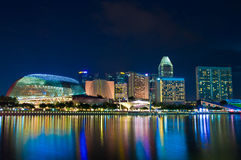 Esplanade Singapore at dusk Stock Image