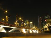 esplanade Singapour de passerelle photos stock