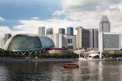 Esplanade-Theater auf dem Schacht in Singapur Stockbild