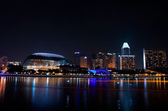 Esplanade theater and cityscape at Singapore Royalty Free Stock Photo