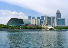 Esplanade Theater in Singapore. Royalty Free Stock Photography