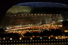 Esplanade Theatre on the Bay. The Esplanade, affectionately known as the durian by locals due to the shape of the roof, is a concert and theatre in Singapore Royalty Free Stock Photo