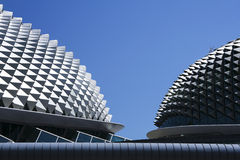 Esplanade theatre roof abstract singapore city Stock Photos