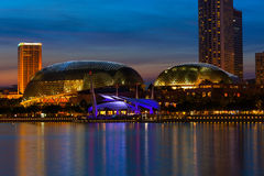 Esplanade Theatre in Singapore in the evening Stock Image