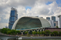Esplanade Theatre of Singapore. Singapore - Jun 13, 2017. View of Esplanade Theatre at sunny day in Singapore. Singapore is one of the most popular travel Stock Images