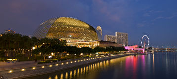 Esplanade theatres on the bay. Esplanade theatres by singapore waterfront Stock Photo