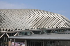Esplanade Theatres on the Bay Concert Hall in Singapore Royalty Free Stock Images