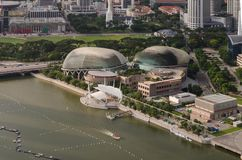 Esplanade Theatres on the Bay concert hall at Waterfront Stock Photos