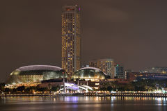 Esplanade - Theatres On The Bay. Extra ordinary kind of roofs, its like a durian fruit Stock Images