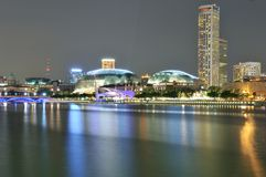Esplanade Theatres on the Bay, Singapore. A long exposure shot of the iconic Esplanade Theatres on the Bay in Singapore Royalty Free Stock Photography