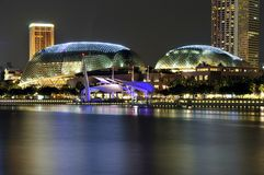 Esplanade Theatres on the Bay, Singapore. A long exposure shot of the iconic Esplanade Theatres on the Bay in Singapore Stock Photography