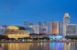 Esplanade Theatres by Singapore waterfront. Located at Waterfront, Marina Bay, mouth of Singapore River. The Esplanade is a world renowned  performing arts Stock Photography