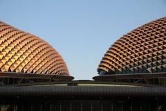 esplanade tvilling- singapore Arkivfoton