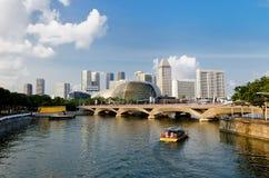 Esplanadeteater i Singapore Royaltyfri Fotografi