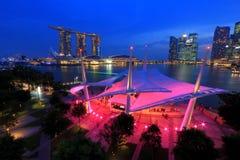 Esplanady plenerowa scena Singapur Obrazy Royalty Free