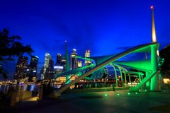 Esplanady plenerowa scena Singapur Zdjęcie Royalty Free