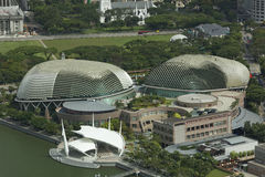 Esplanady Theatre, Singapur Kwiecień 03, 2012 - Akcyjny wizerunek Zdjęcia Stock