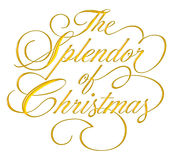 Esplendor de la escritura de la Navidad Fotografía de archivo libre de regalías