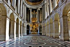 Esplendor del palacio de Versalles Fotos de archivo libres de regalías