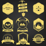 Esploratore Adventure Vintage Label Immagini Stock
