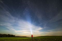 Esploratore di Nightspace Fotografia Stock