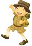 Esploratore di ragazzo Immagini Stock Libere da Diritti