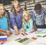 Esploratore mondiale Continent Country Concept di geografia Fotografie Stock