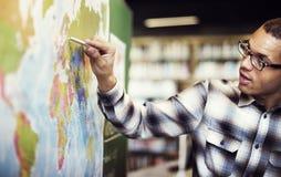 Esploratore mondiale Continent Country Concept di geografia Immagine Stock Libera da Diritti