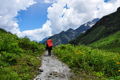 Esploratore In Tibet immagini stock
