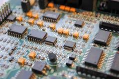 Esploratori ed altre componenti elettroniche Fotografia Stock
