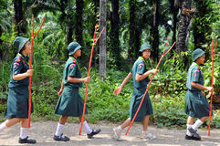 Esploratori tailandesi Fotografie Stock